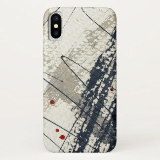Coque iPhone X Arrière - plan grunge abstrait, texture d'encre. 2