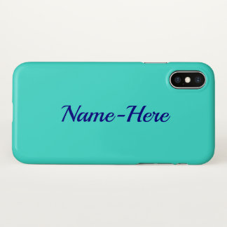 Coque iPhone X Arrière - plan simple, élégant, de turquoise et