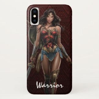 Coque iPhone X Art comique Bataille-Prêt de femme de merveille