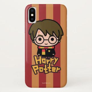 Coque iPhone X Art de personnage de dessin animé de Harry Potter