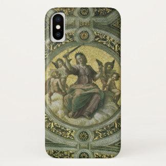Coque iPhone X Art de Renaissance vintage, justice par Raphael
