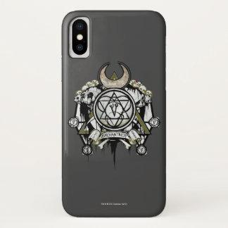 Coque iPhone X Art de tatouage de symboles d'enchanteresse du