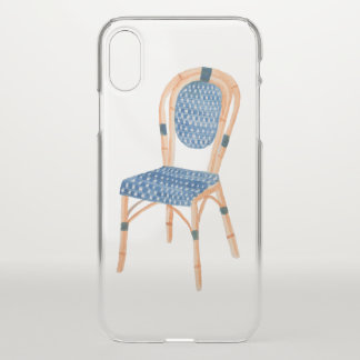 Coque iPhone X Art français de chaise de café de Bistros de Paris