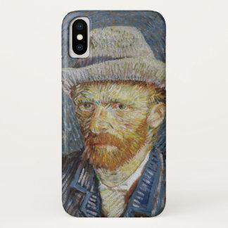 Coque iPhone X Art gris de peinture de chapeau de feutre
