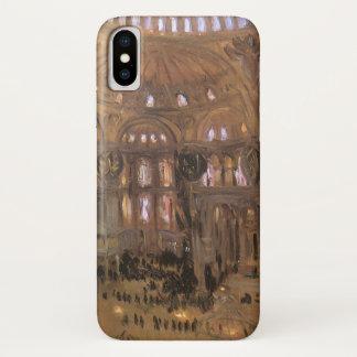 Coque iPhone X Art victorien, croquis de Père Noël Sophia par