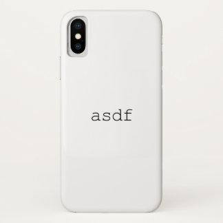Coque iPhone X asdf