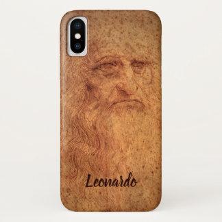 Coque iPhone X Autoportrait d'art de Renaissance par Leonardo da