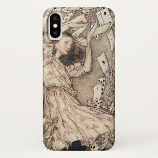 Coque iPhone X Aventures vintages d'Alices au pays des merveilles