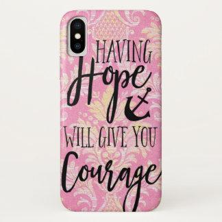 Coque iPhone X Avoir l'espoir vous donnera l'amour Jésus de bible