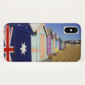 Coque iPhone X Baigner des boîtes, plage moyenne de Brighton,