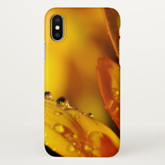 Coque iPhone X Baisse d'or de l'eau sur la couverture d'iphone de