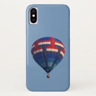 Coque iPhone X Ballon à air chaud bleu