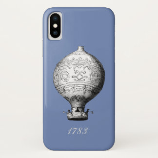 Coque iPhone X Ballon à air chaud vintage de Montgolfier