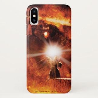 Coque iPhone X Balrog contre Gandalf
