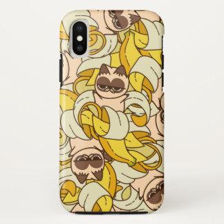 Coque iPhone X Banane Cats