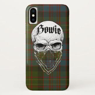 Coque iPhone X Bandit de tartan de Bowie