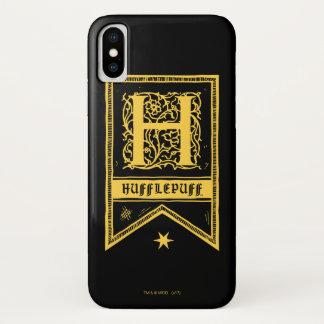 Coque iPhone X Bannière de monogramme de Harry Potter |