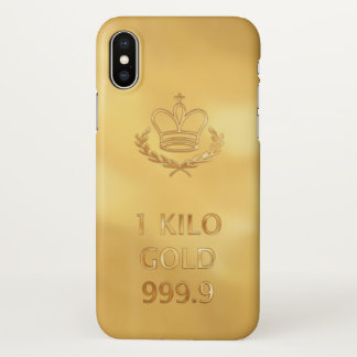 Coque iPhone X Barre de lingot d'or