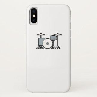 Coque iPhone X Batteur de tambours battant du tambour du cadeau
