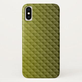 Coque iPhone X Beau motif des triangles jaunes
