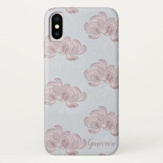 Coque iPhone X Beautiful design of peonies.