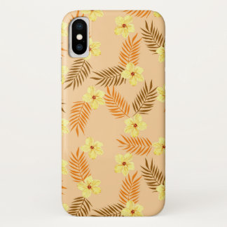 Coque iPhone X Beautiful yellow and orange floral design.