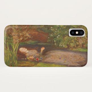 Coque iPhone X Beaux-arts victoriens vintages, Ophélie par