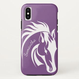 Coque iPhone X Belle caisse de l'iPhone X de conception de cheval