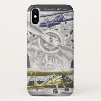 Coque iPhone X Biplan de Stearman