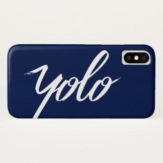 Coque iPhone X Bleu de YOLO