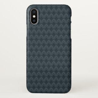 Coque iPhone X Bleu marine avec le motif d'échelle