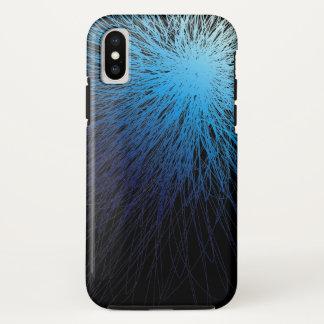 Coque iPhone X Bleu rayonnant - cas de l'iPhone X d'Apple