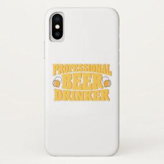 Coque iPhone X Boire professionnel de bière de buveur de bière
