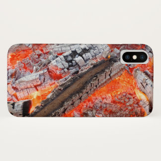 Coque iPhone X Bois chaud
