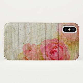Coque iPhone X Bois de rose de rose