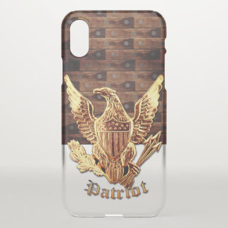 Coque iPhone X Bois-regard avec Eagle