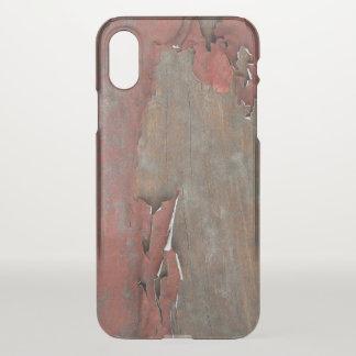 Coque iPhone X Bois rouge vintage de grange