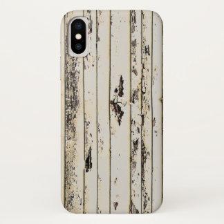 Coque iPhone X bois rustique de grange de pays occidental de