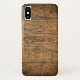 Coque iPhone X bois rustique grunge de grange de pays occidental