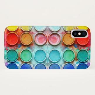 Coque iPhone X Boîte de couleur de peinture d'amusement