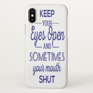 Coque iPhone X bouche fermée
