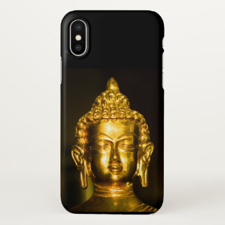 Coque iPhone X Bouddha d'or
