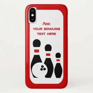 Coque iPhone X Boule de bowling et noir rouge de sports de