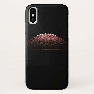 Coque iPhone X Boule de football américain sur l'arrière - plan