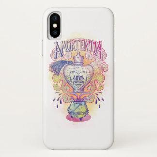Coque iPhone X Bouteille de philtre d'amour du charme |