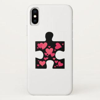 Coque iPhone X Cadeau de sensibilisation sur l'autisme d'amour