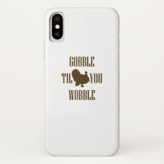 Coque iPhone X Cadeau drôle de thanksgiving de la Turquie
