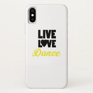 Coque iPhone X Cadeau vivant de danseur de danse de danse d'amour