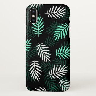 Coque iPhone X Caisse blanche et verte élégante de l'iPhone X de