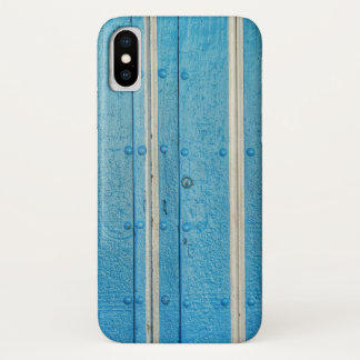 Coque iPhone X Caisse bleue et blanche de l'iPhone X